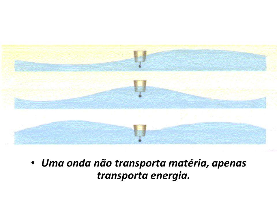 Uma onda não transporta matéria, apenas transporta energia.