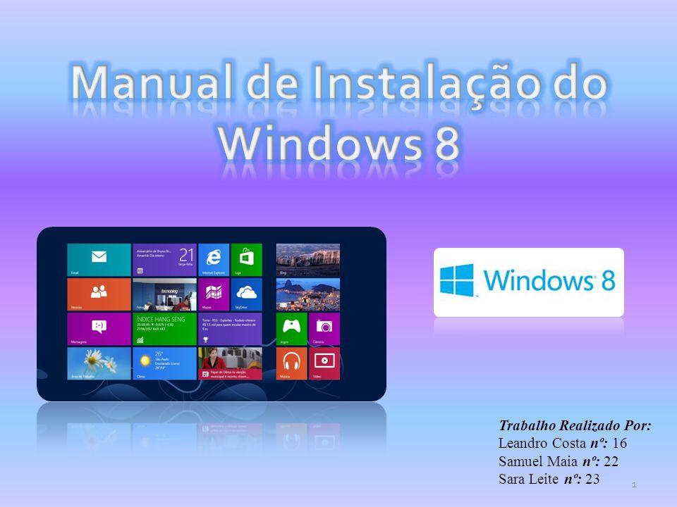 Manual de Instalação do Windows 8