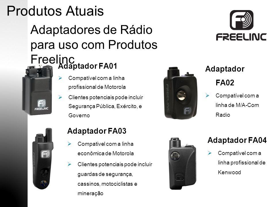 Produtos Atuais Adaptadores de Rádio para uso com Produtos Freelinc
