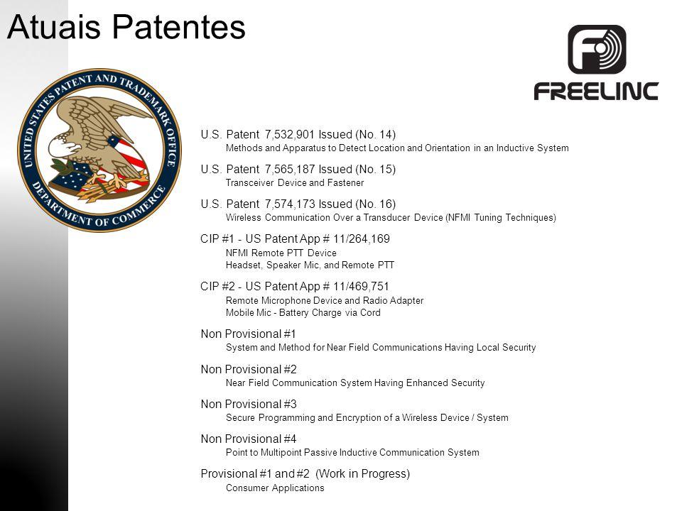 Atuais Patentes U.S. Patent 7,532,901 Issued (No. 14)