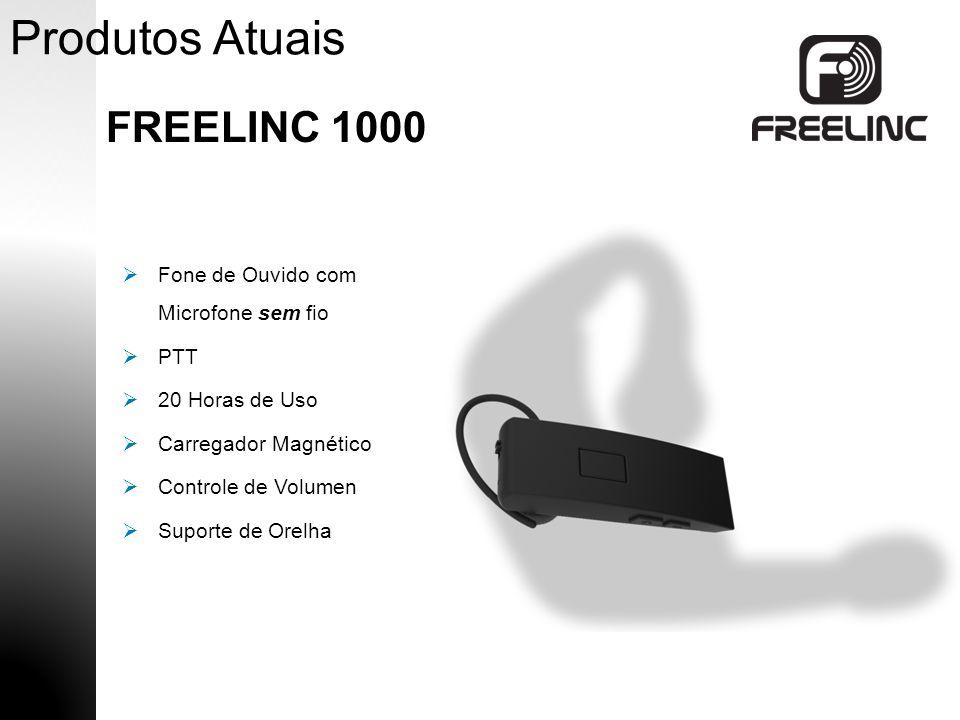 Produtos Atuais FREELINC 1000 Fone de Ouvido com Microfone sem fio PTT