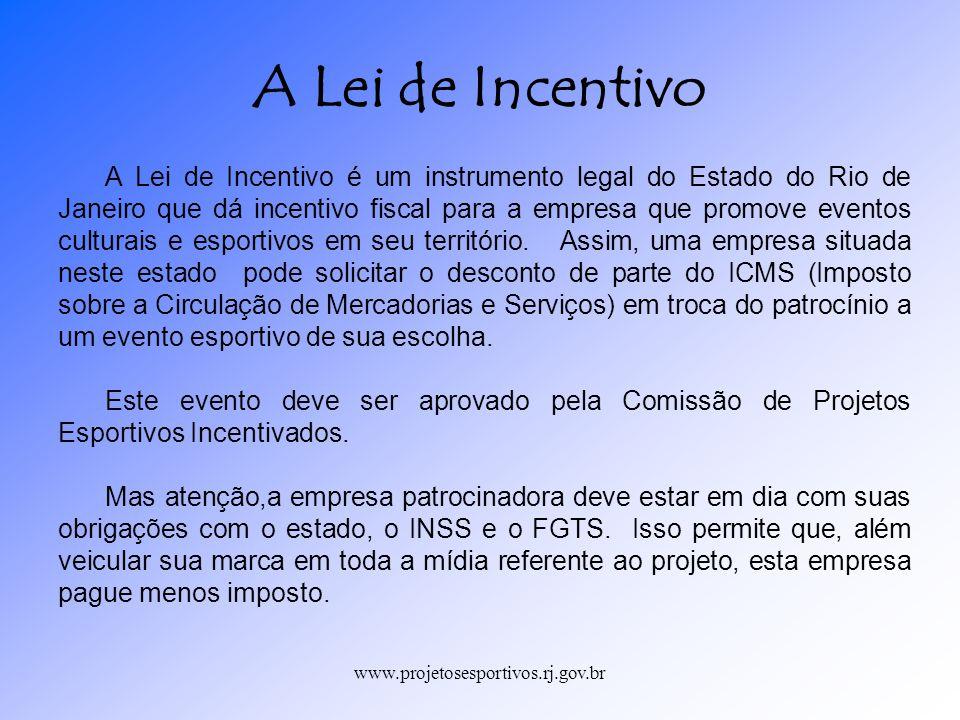 A Lei de Incentivo