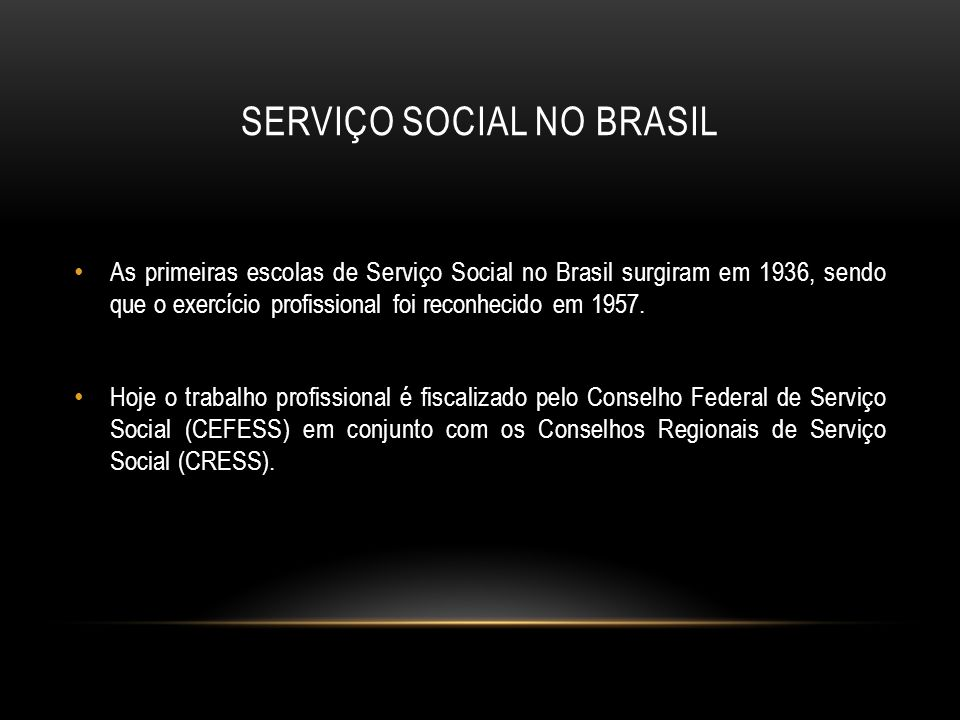 Serviço social no brasil