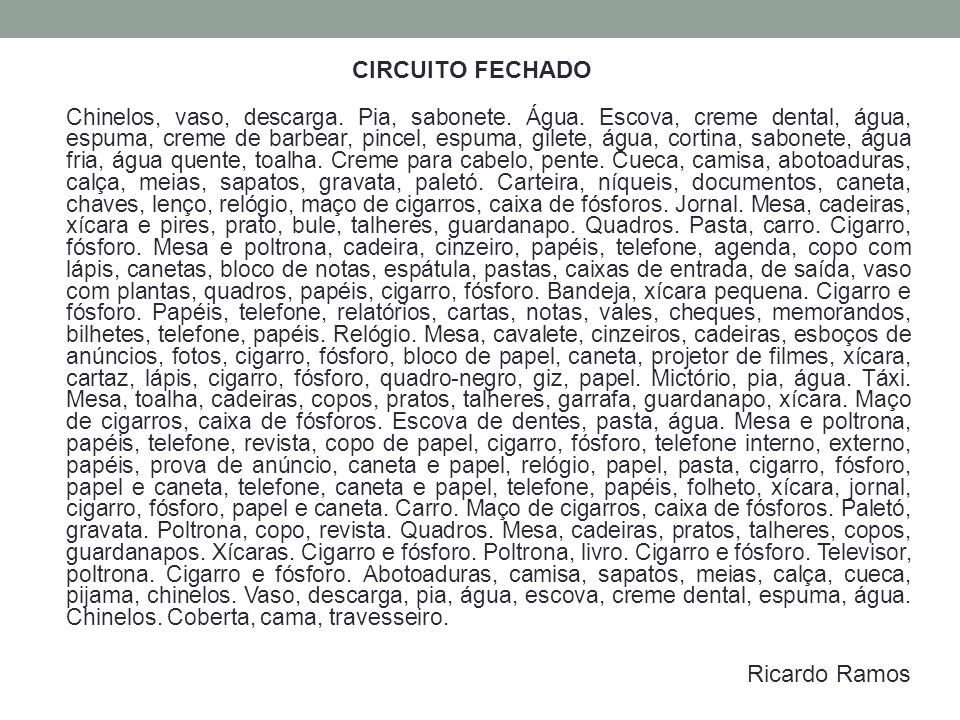 CIRCUITO FECHADO Ricardo Ramos