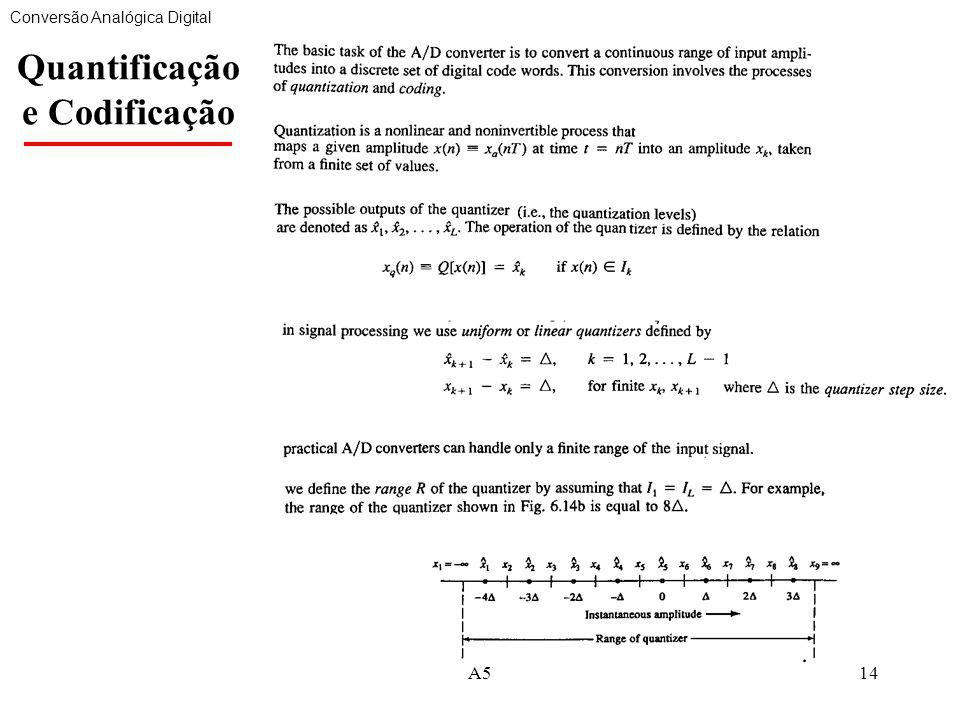 Quantificação e Codificação