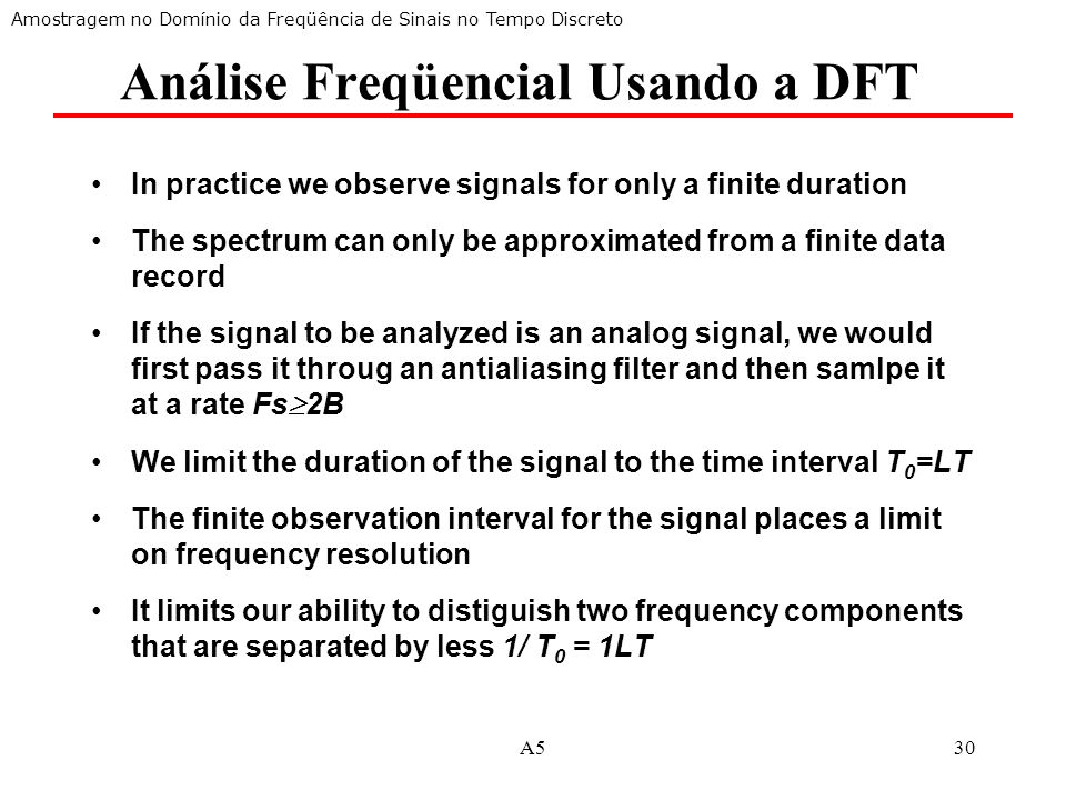 Análise Freqüencial Usando a DFT