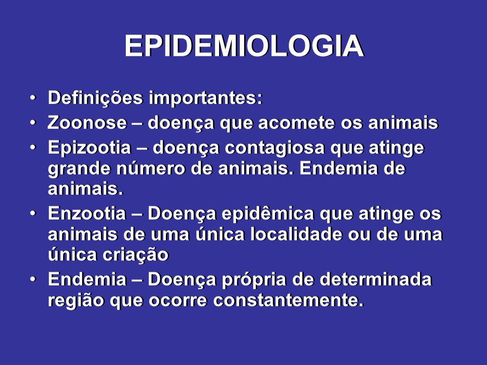 EPIDEMIOLOGIA Definições importantes: