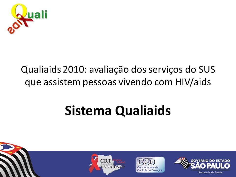 Qualiaids 2010: avaliação dos serviços do SUS que assistem pessoas vivendo com HIV/aids
