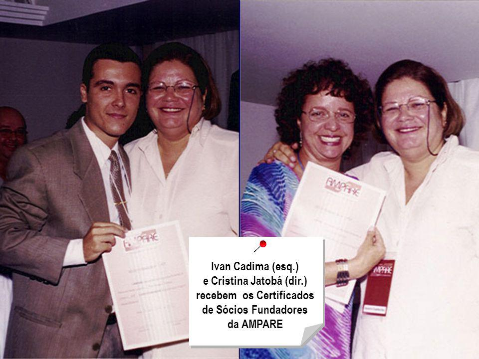 Ivan Cadima (esq. ) e Cristina Jatobá (dir