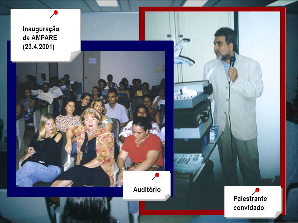 Inauguração da AMPARE (23.4.2001) Palestrante convidado Auditório