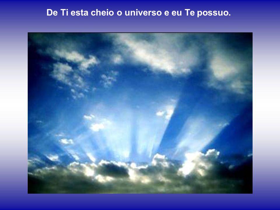 De Ti esta cheio o universo e eu Te possuo.