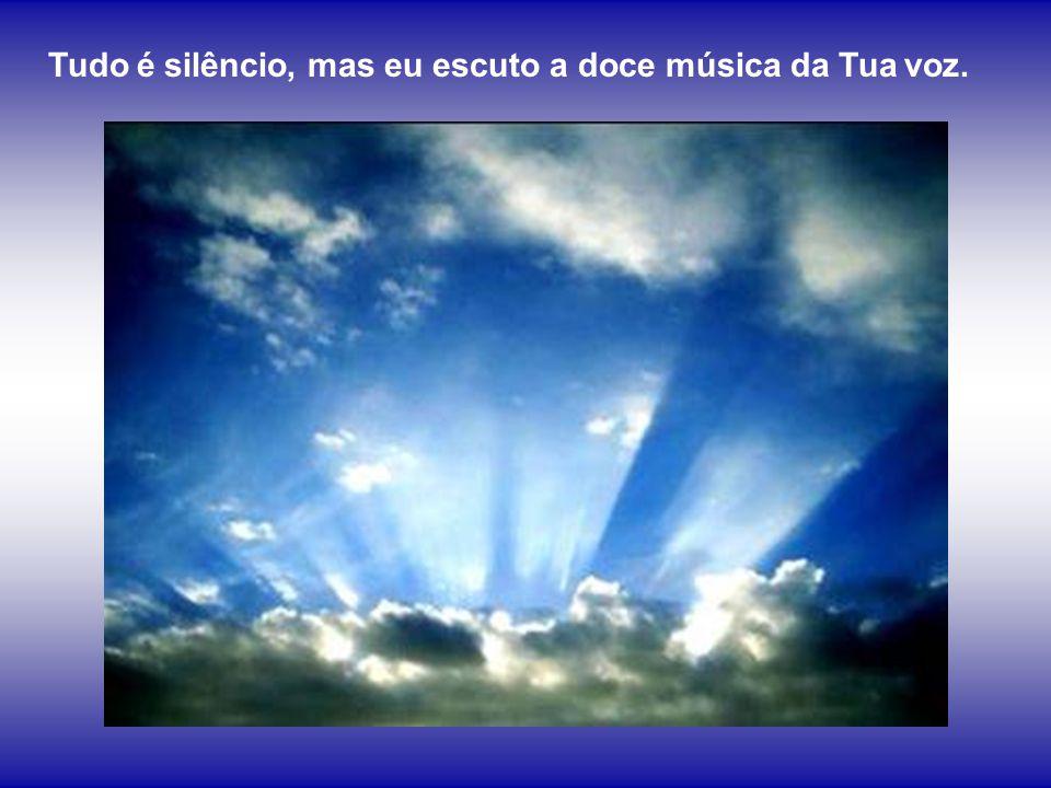 Tudo é silêncio, mas eu escuto a doce música da Tua voz.