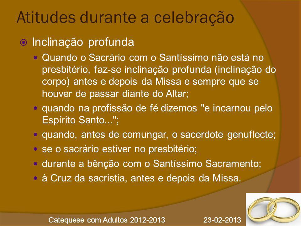 Atitudes durante a celebração