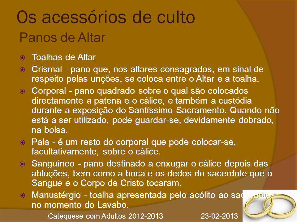 Os acessórios de culto Panos de Altar Toalhas de Altar