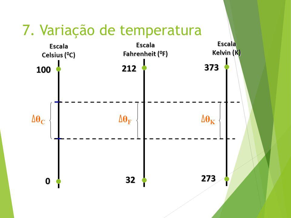 7. Variação de temperatura