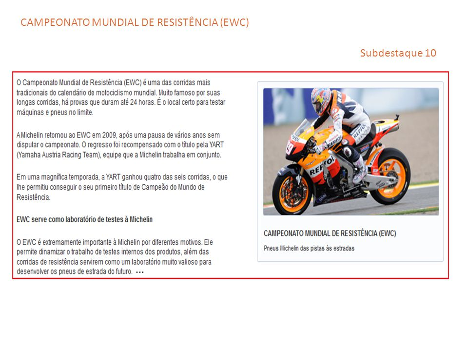CAMPEONATO MUNDIAL DE RESISTÊNCIA (EWC)