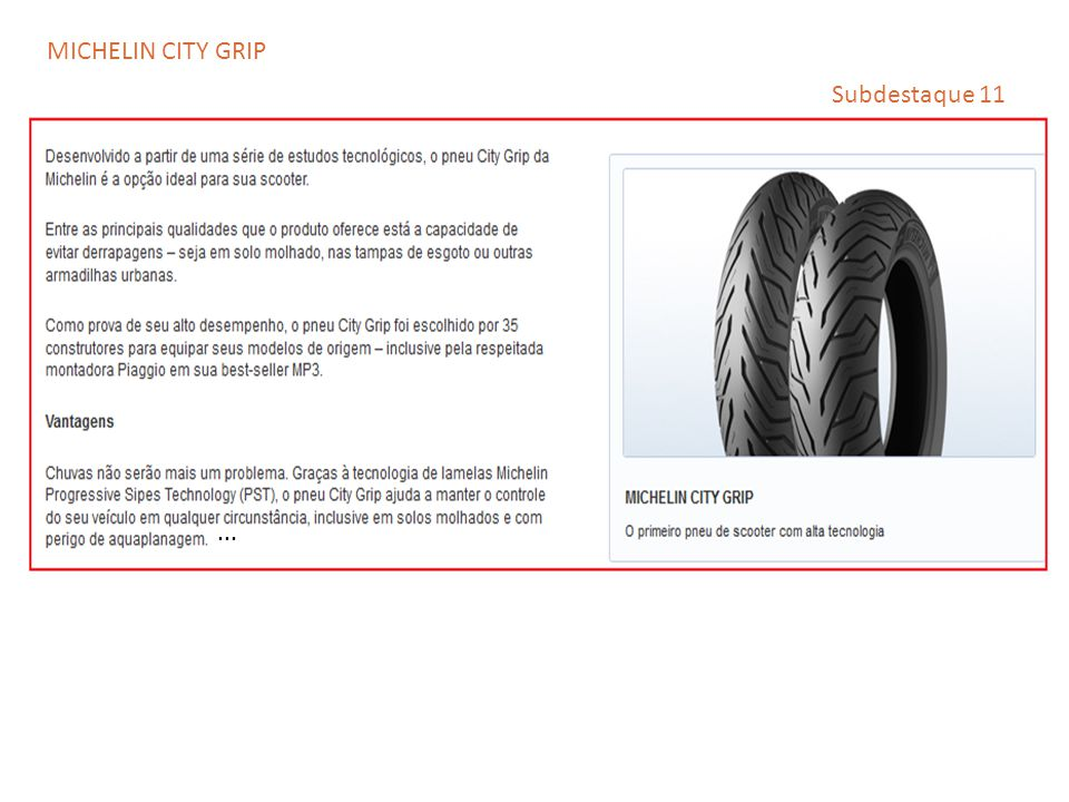 MICHELIN CITY GRIP Subdestaque 11 ...
