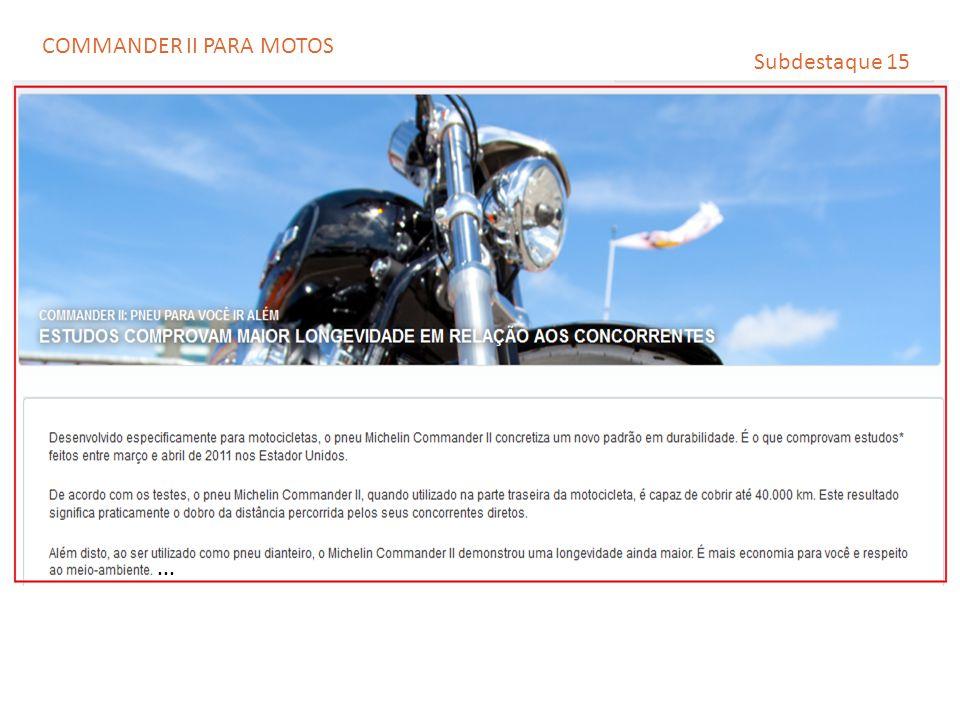 COMMANDER II PARA MOTOS