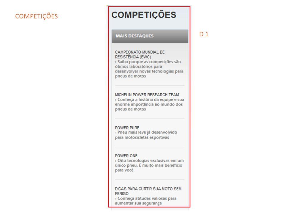 COMPETIÇÕES D 1