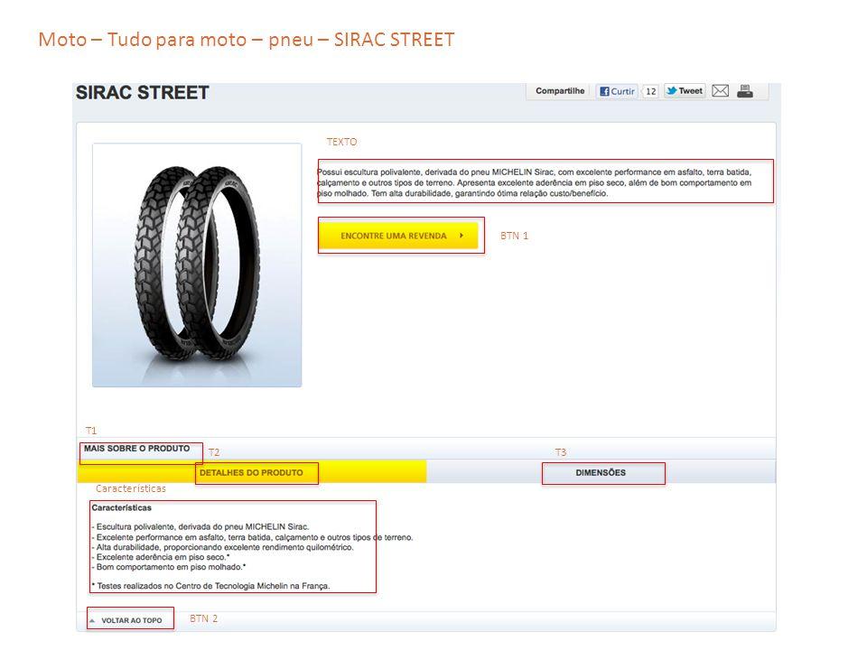 Moto – Tudo para moto – pneu – SIRAC STREET