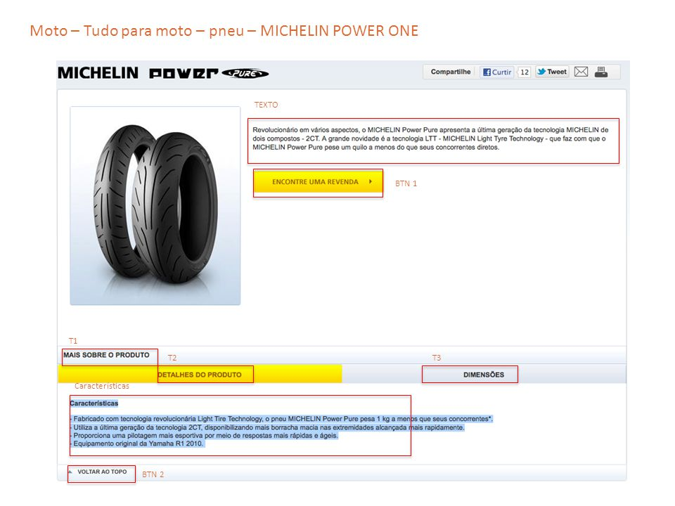 Moto – Tudo para moto – pneu – MICHELIN POWER ONE