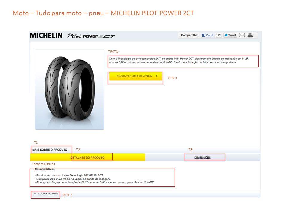 Moto – Tudo para moto – pneu – MICHELIN PILOT POWER 2CT