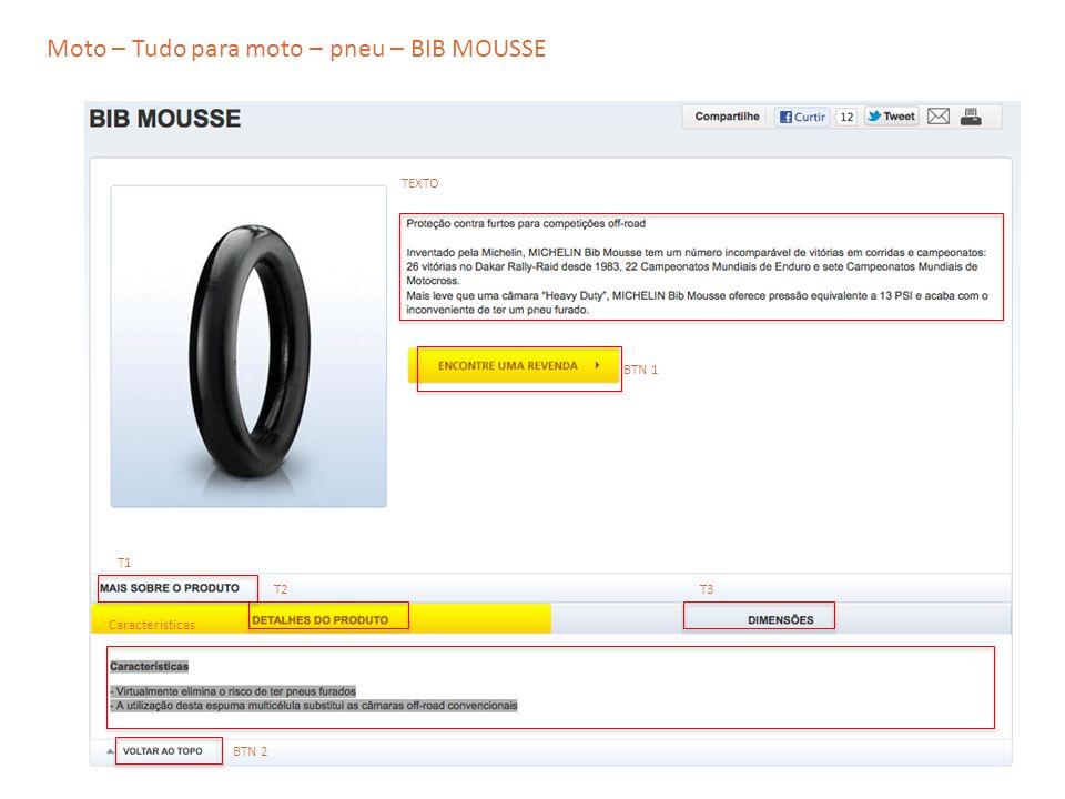 Moto – Tudo para moto – pneu – BIB MOUSSE