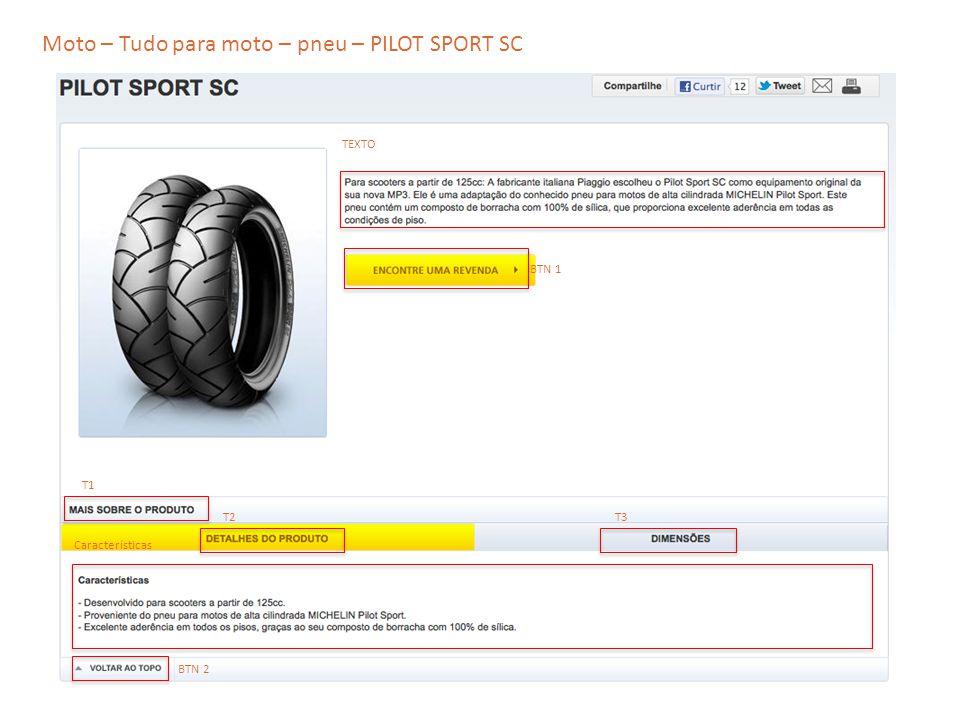 Moto – Tudo para moto – pneu – PILOT SPORT SC