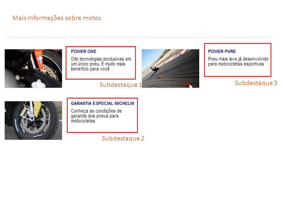 Mais Informações sobre motos