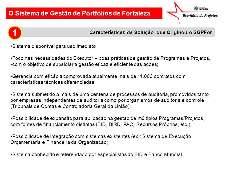 1 O Sistema de Gestão de Portfólios de Fortaleza