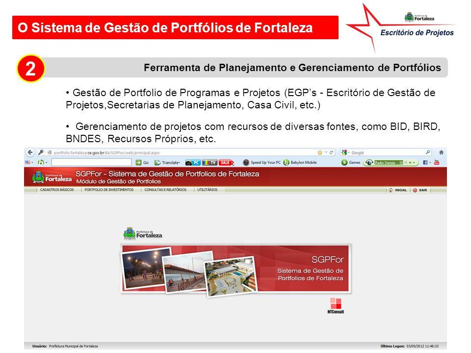 2 O Sistema de Gestão de Portfólios de Fortaleza