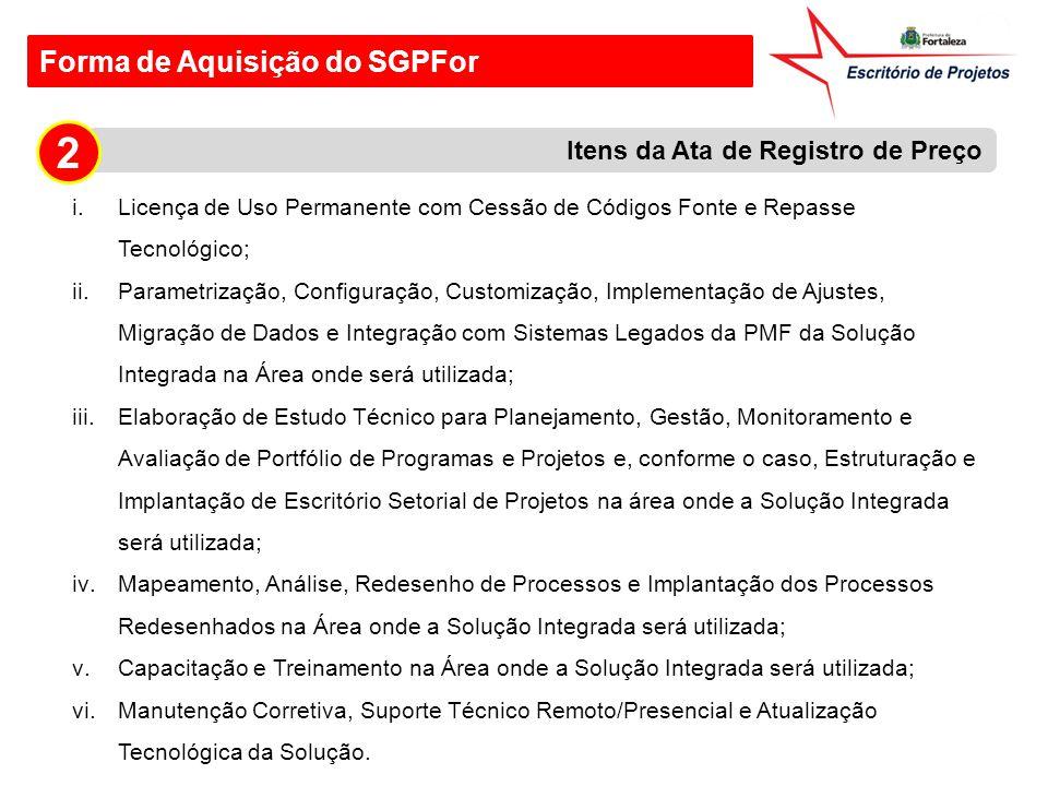 2 Forma de Aquisição do SGPFor Itens da Ata de Registro de Preço
