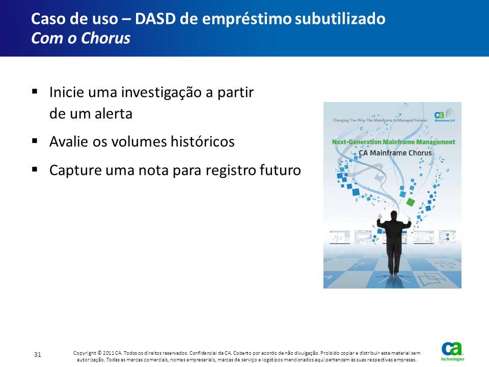 Caso de uso – DASD de empréstimo subutilizado Com o Chorus