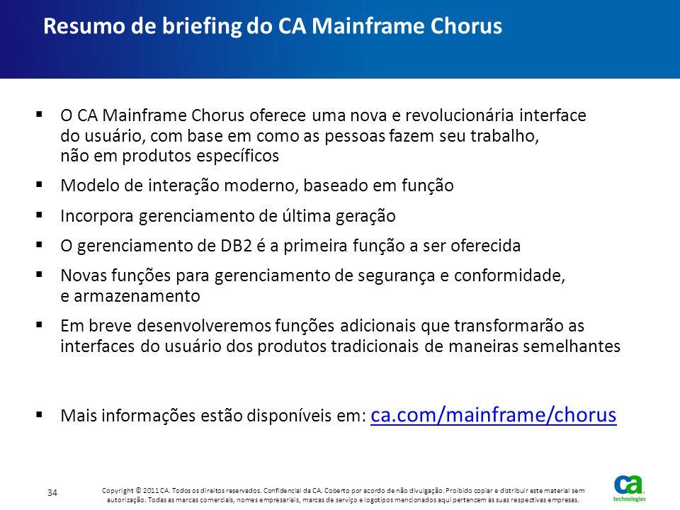 Resumo de briefing do CA Mainframe Chorus