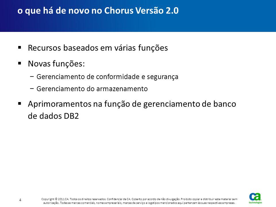 o que há de novo no Chorus Versão 2.0