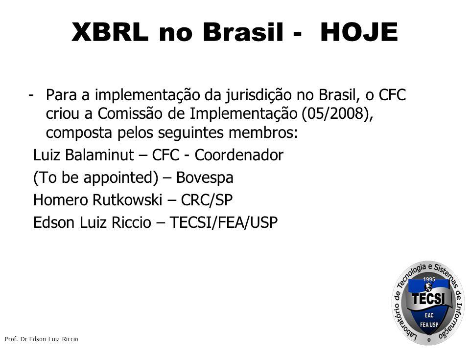 XBRL no Brasil - HOJE