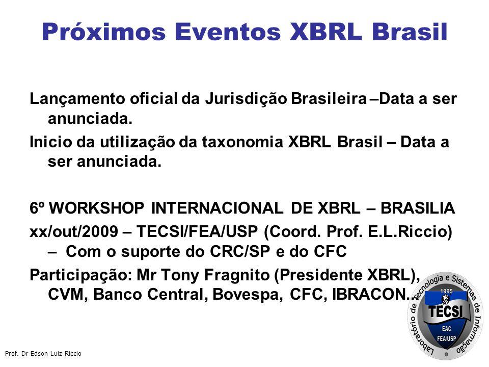 Próximos Eventos XBRL Brasil