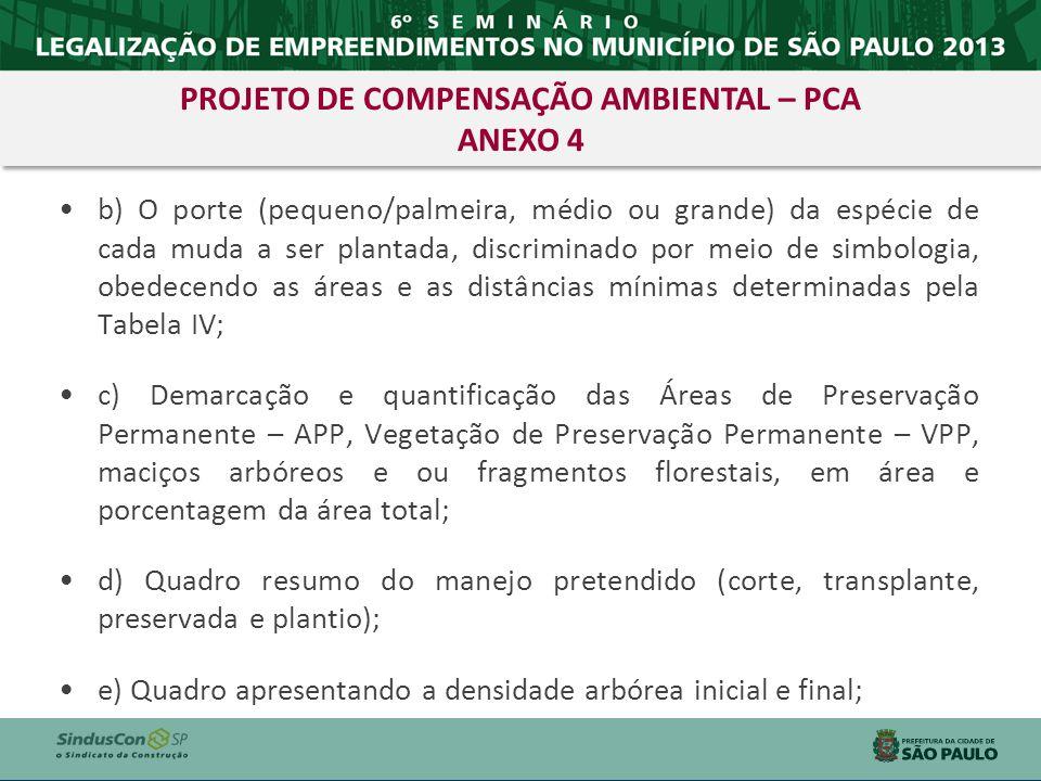 PROJETO DE COMPENSAÇÃO AMBIENTAL – PCA ANEXO 4