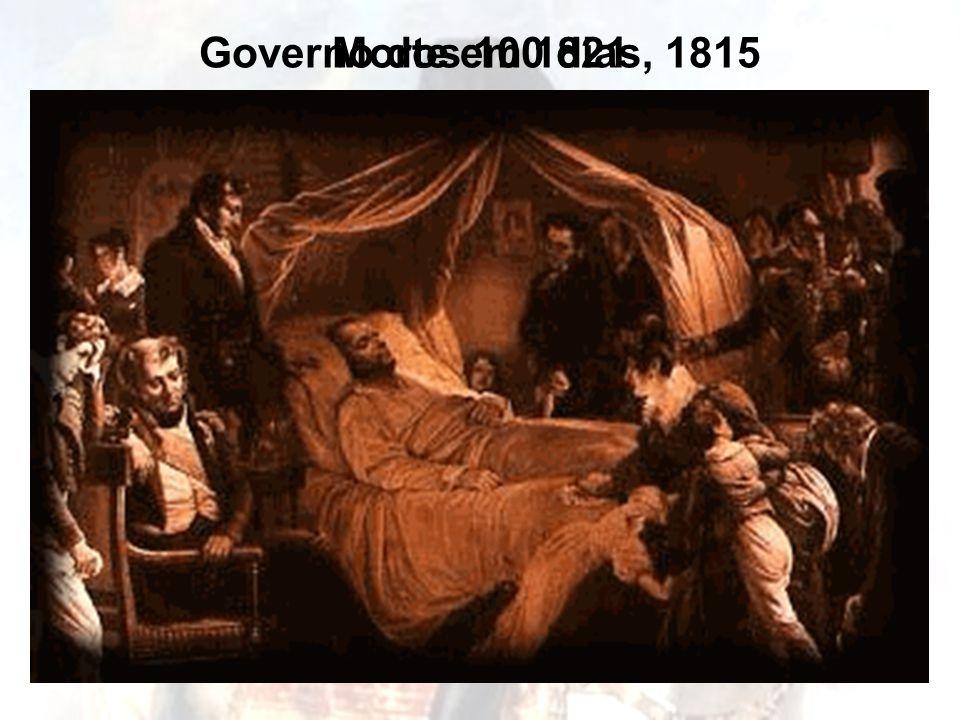 Derrota sobre a 6ª Coligação , 1813 Governo dos 100 dias, 1815