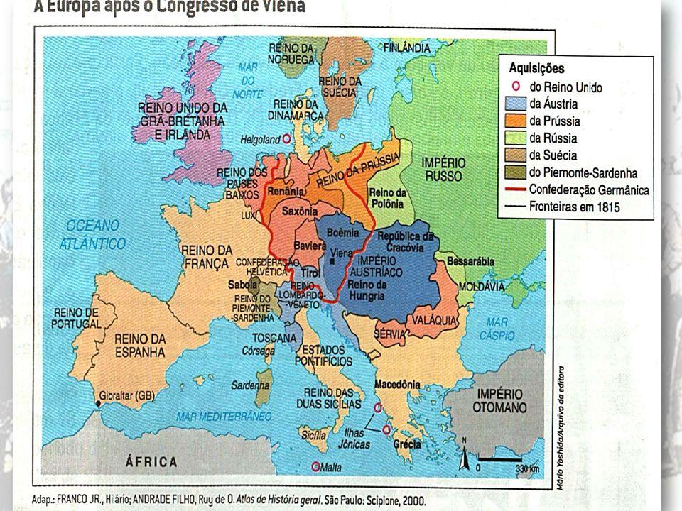A Santa Aliança O Congresso de Viena O Congresso de Viena