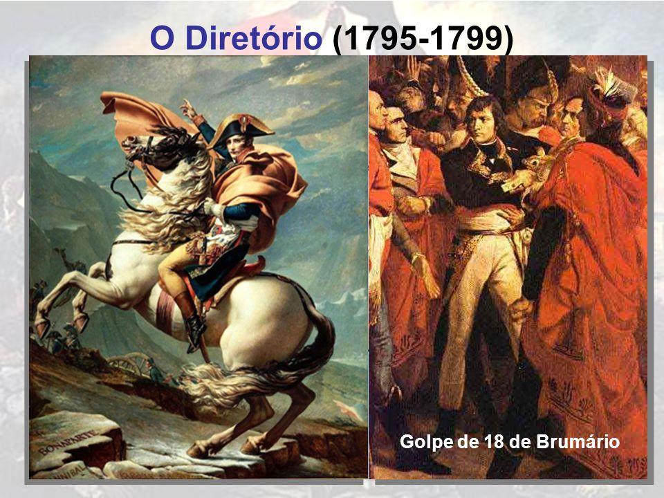 O Diretório (1795-1799) FRANÇA Golpe de 18 de Brumário INGLESES