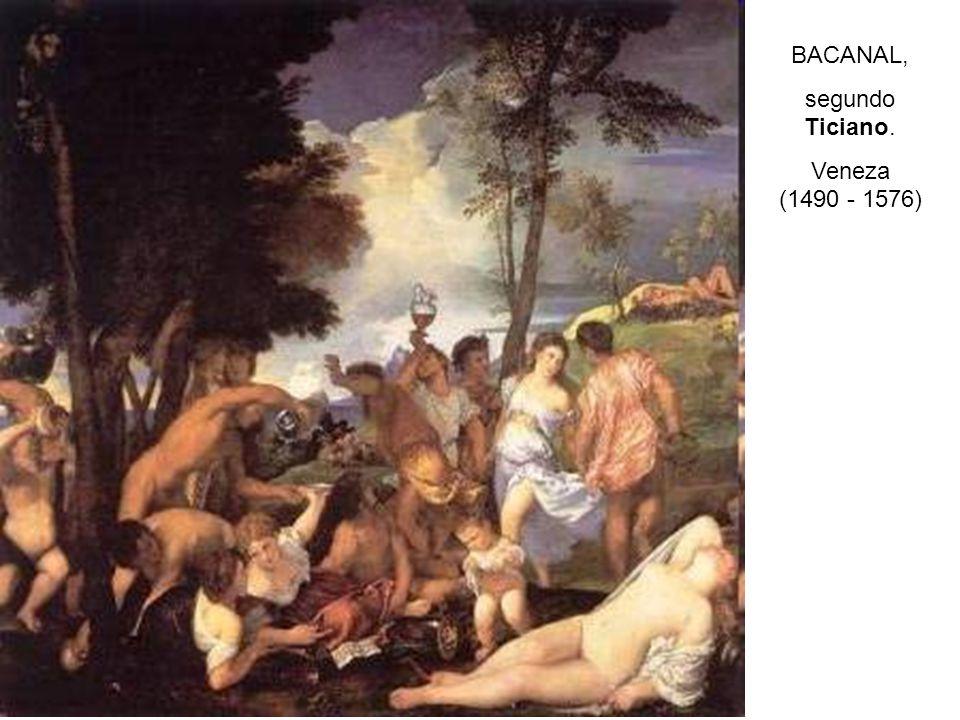 BACANAL, segundo Ticiano. Veneza (1490 - 1576)