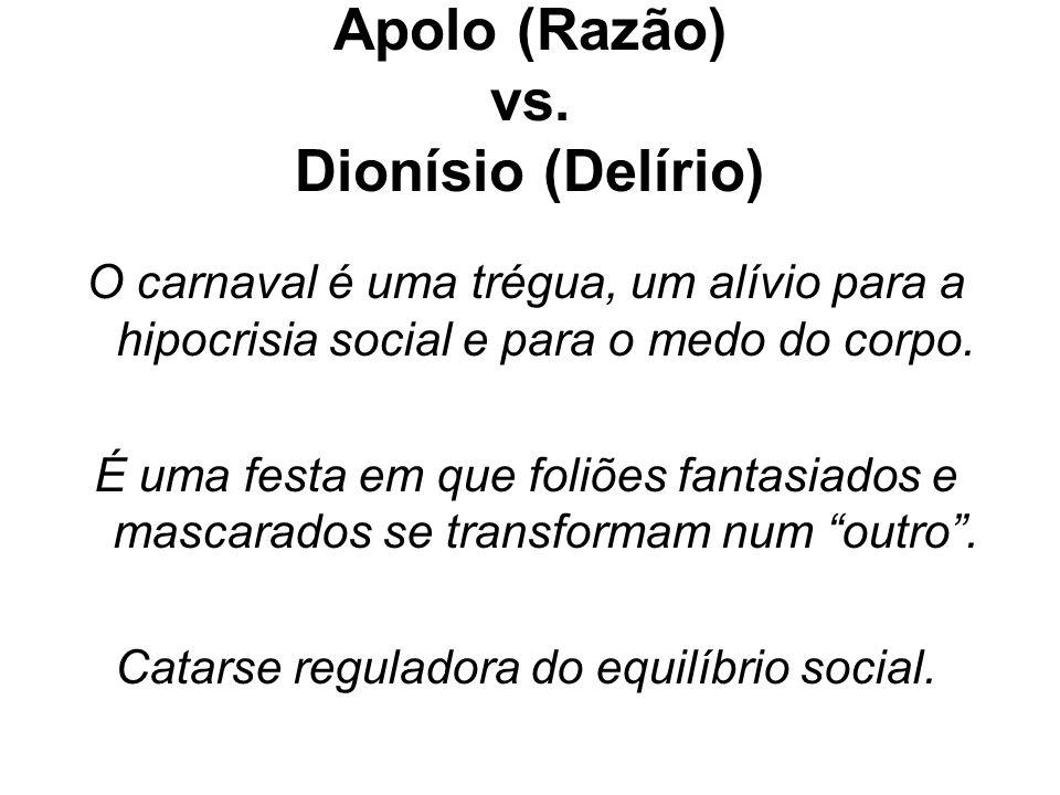 Apolo (Razão) vs. Dionísio (Delírio)