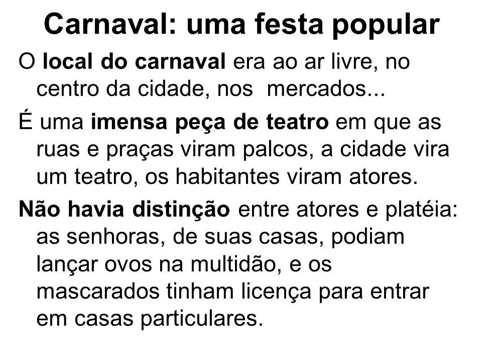 Carnaval: uma festa popular