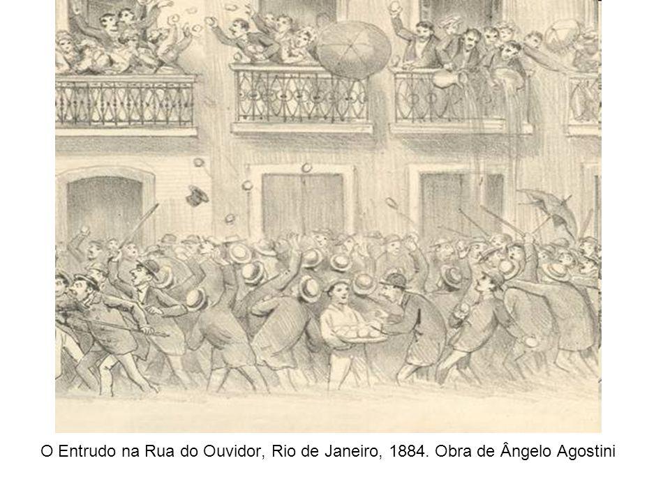 O Entrudo na Rua do Ouvidor, Rio de Janeiro, 1884