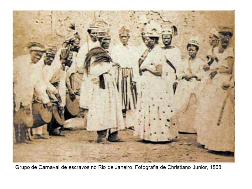 Grupo de Carnaval de escravos no Rio de Janeiro