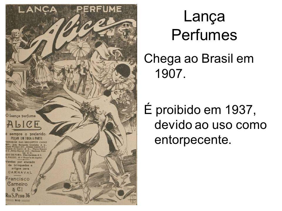 Lança Perfumes Chega ao Brasil em 1907.