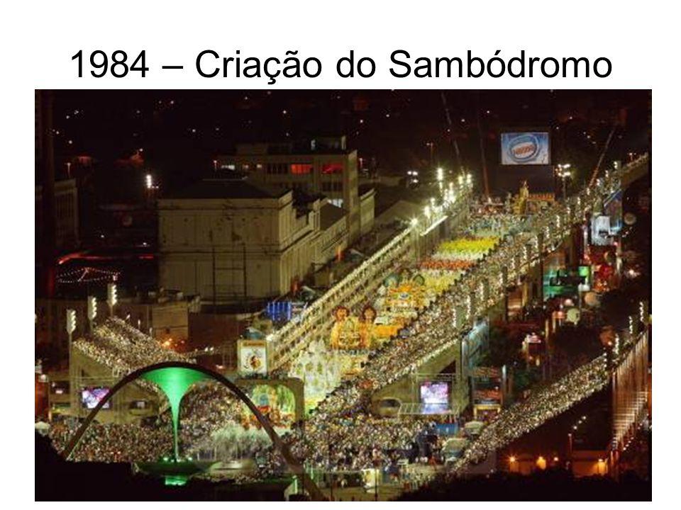 1984 – Criação do Sambódromo
