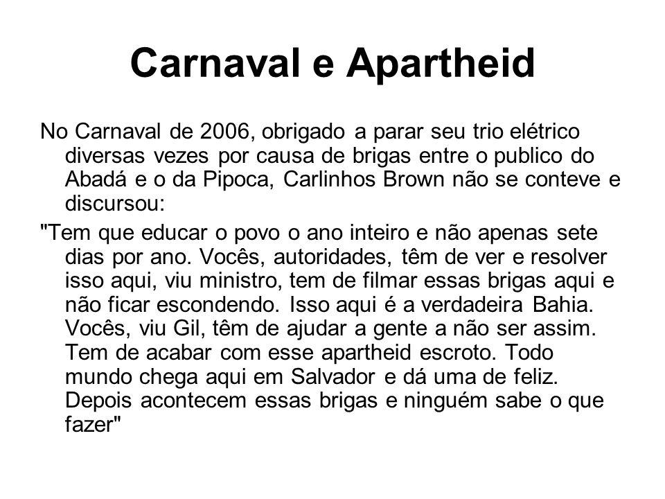 Carnaval e Apartheid