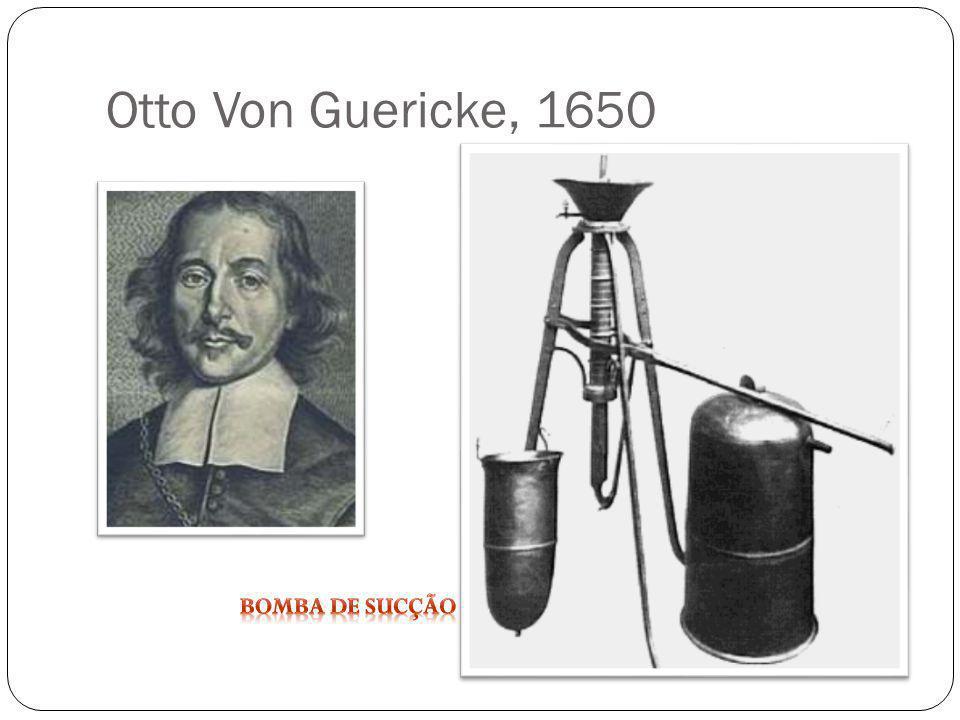 Otto Von Guericke, 1650 Bomba de sucção